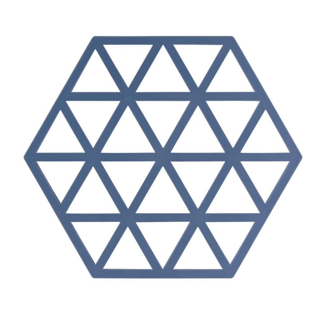 Silikonová podložka pod horké TRIANGLES 16 cm, denimová modř - Zone