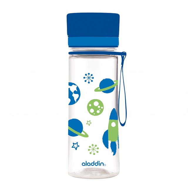 Láhev na vodu 350ml modrá s potiskem AVEO - Aladdin