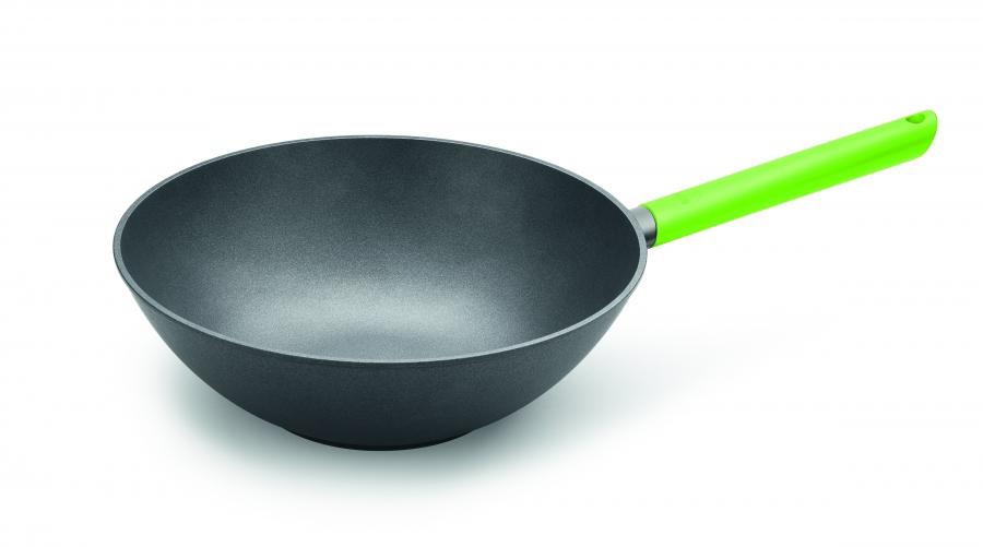 Wok Pánev Just Cook na indukci zelená rukojeť 30 cm - WOLL