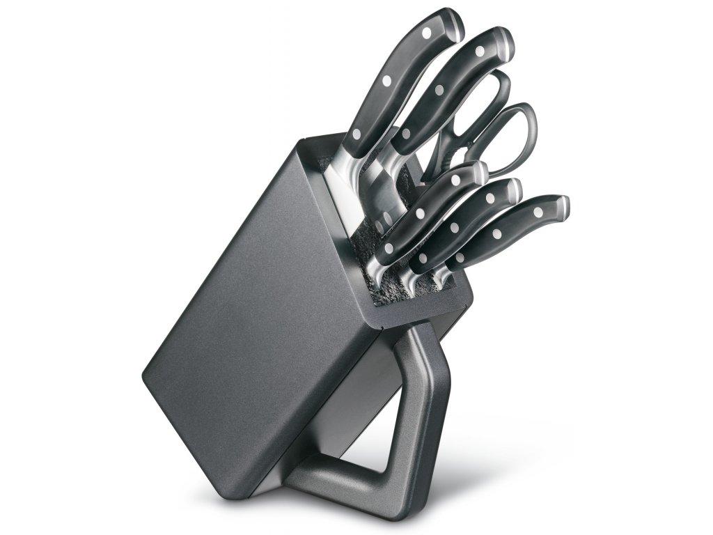 Sada nožů s blokem 6 ks GRAND MAÎTRE antracitový - Victorinox
