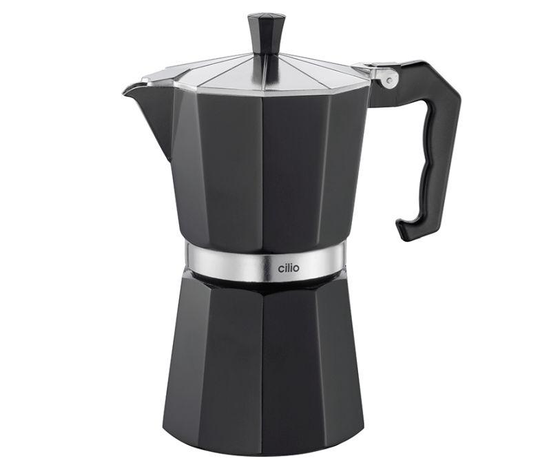 Kávovar espressa Classico na 6 šálků 300 ml, černý - Cilio