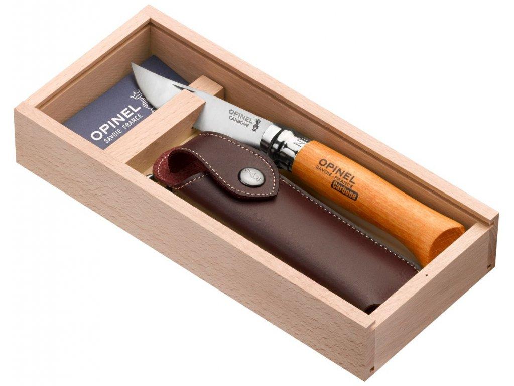 Kapesní nůž VR N°08 Carbon v dárkovém balení s pouzdrem 8,5 cm - Opinel
