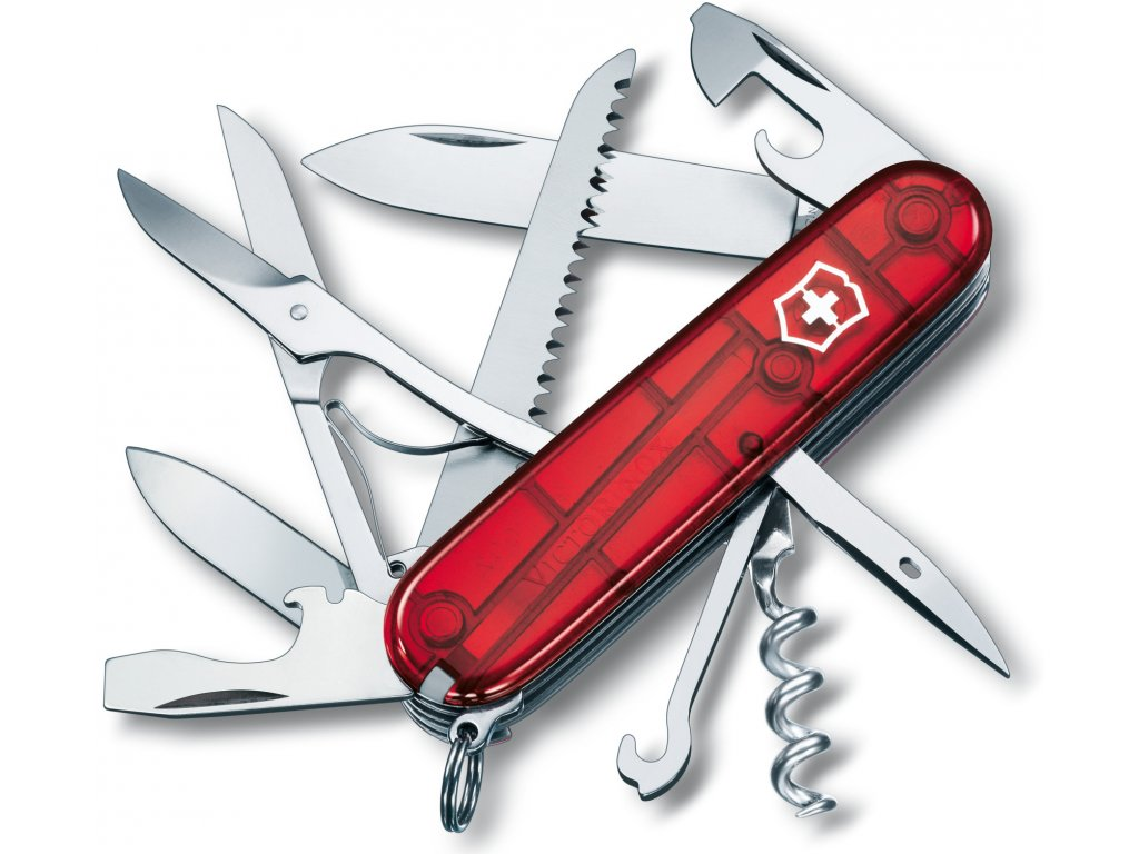Kapesní nůž HUNTSMAN transparent červený - Victorinox