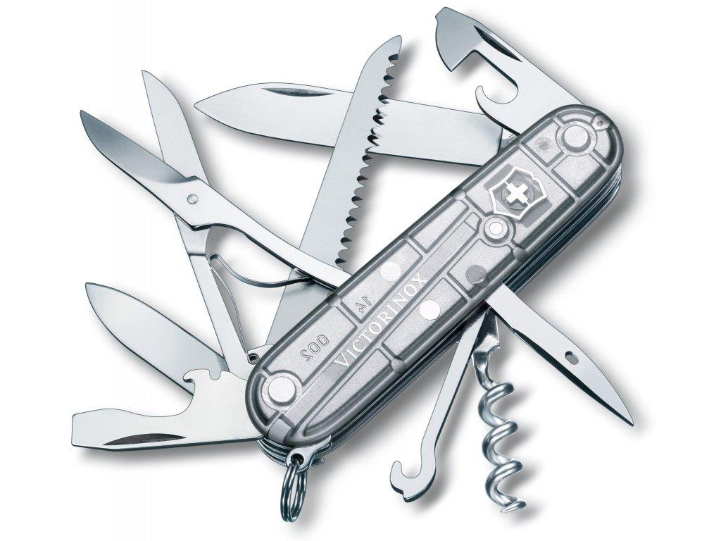 Kapesní nůž HUNTSMAN SILVERTECH transparent stříbrný - Victorinox