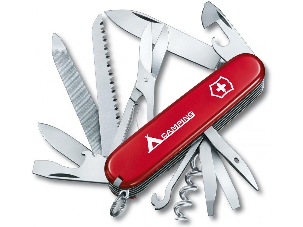 Kapesní nůž RANGER CAMPING červený s nápisem - Victorinox