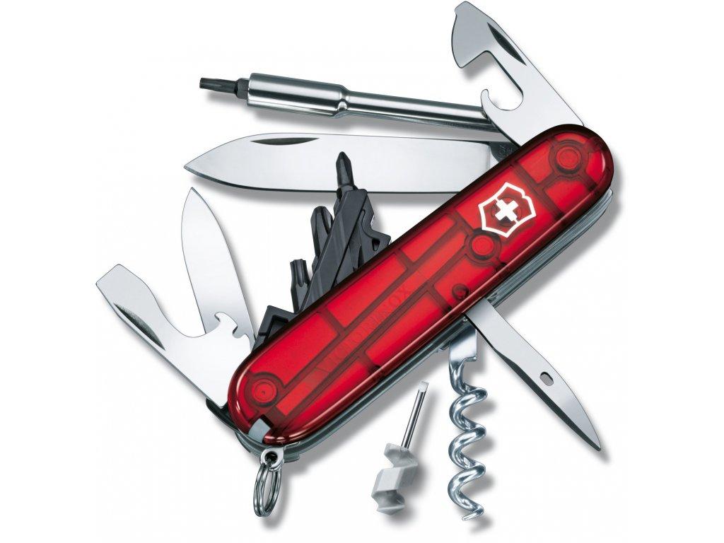 Kapesní nůž CYBER TOOL S transparent červený - Victorinox
