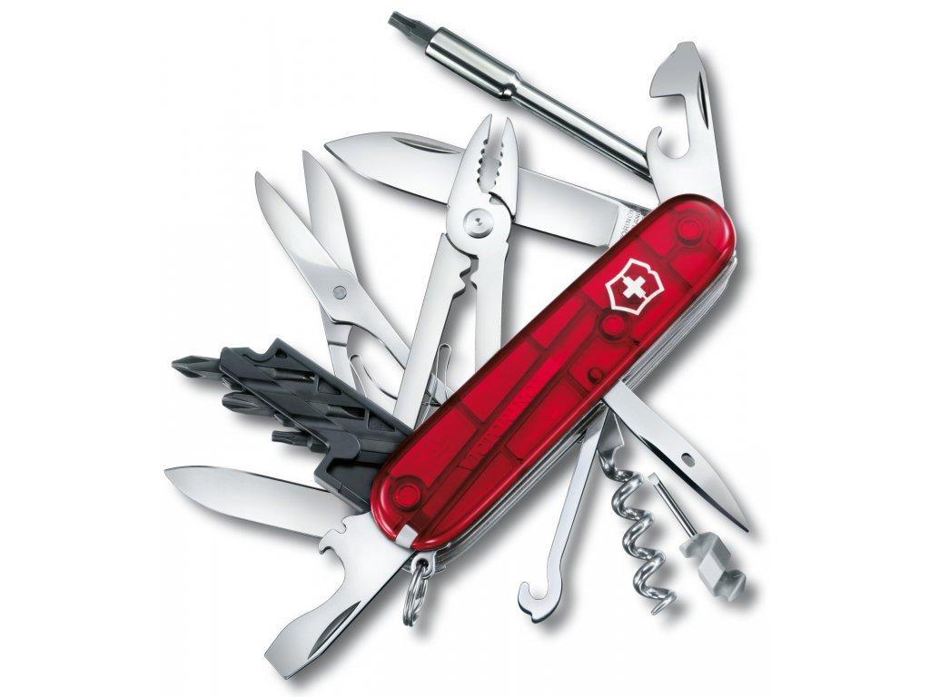 Kapesní nůž CYBER TOOL M transparent červený - Victorinox