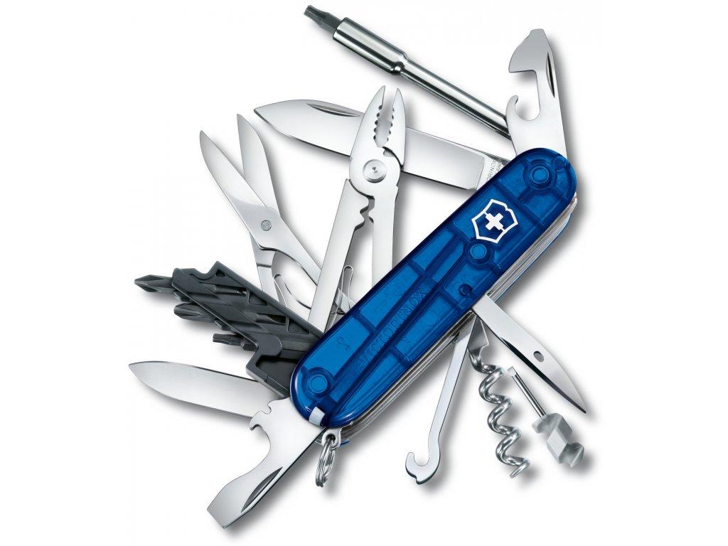Kapesní nůž CYBER TOOL M transparent modrý - Victorinox