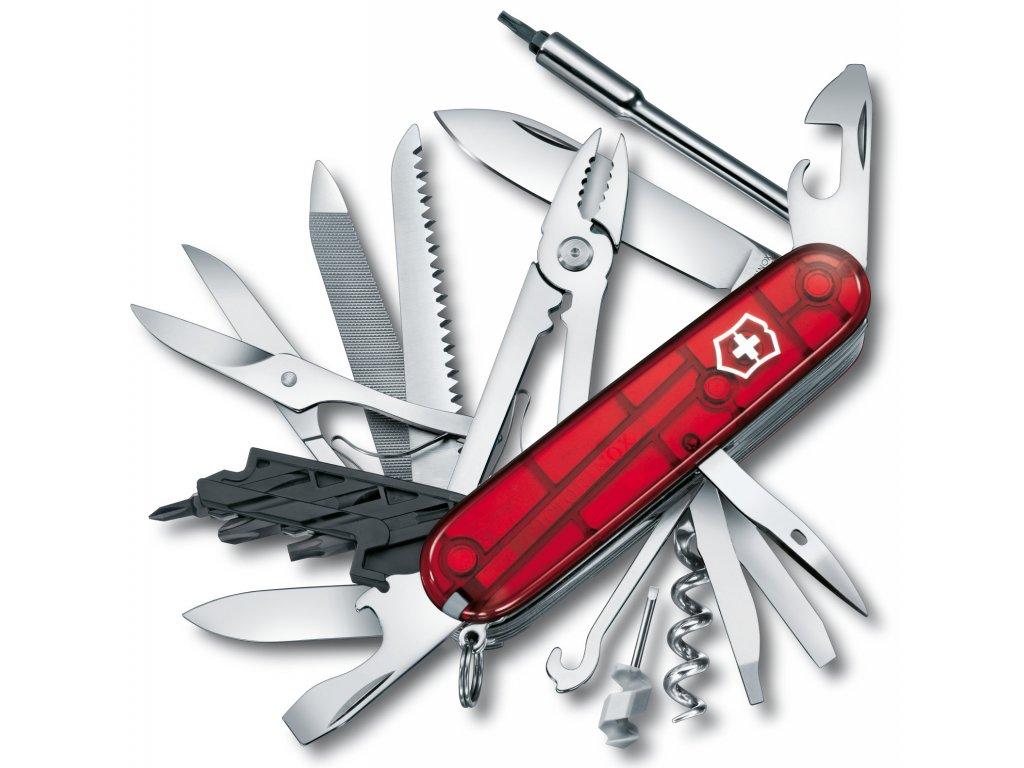 Kapesní nůž CYBER TOOL L transparent červený - Victorinox