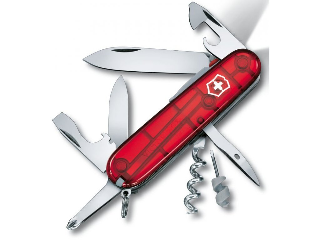 Kapesní nůž SPARTAN LITE transparent červený - Victorinox