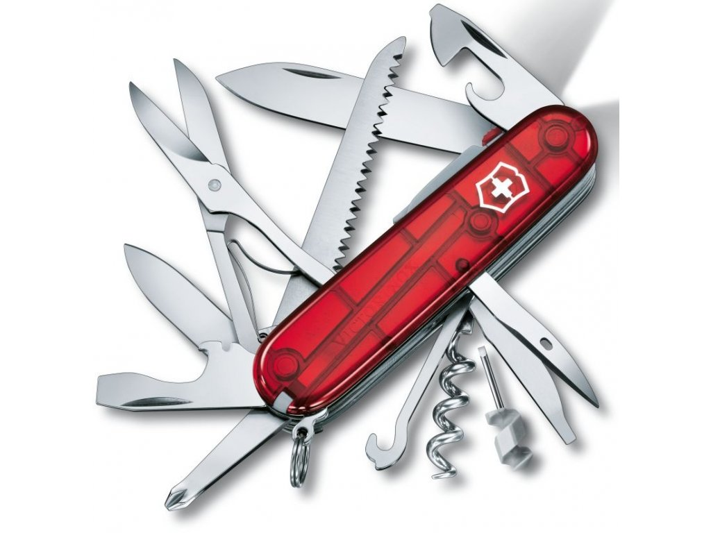 Kapesní nůž HUNTSMAN LITE transparent červený - Victorinox