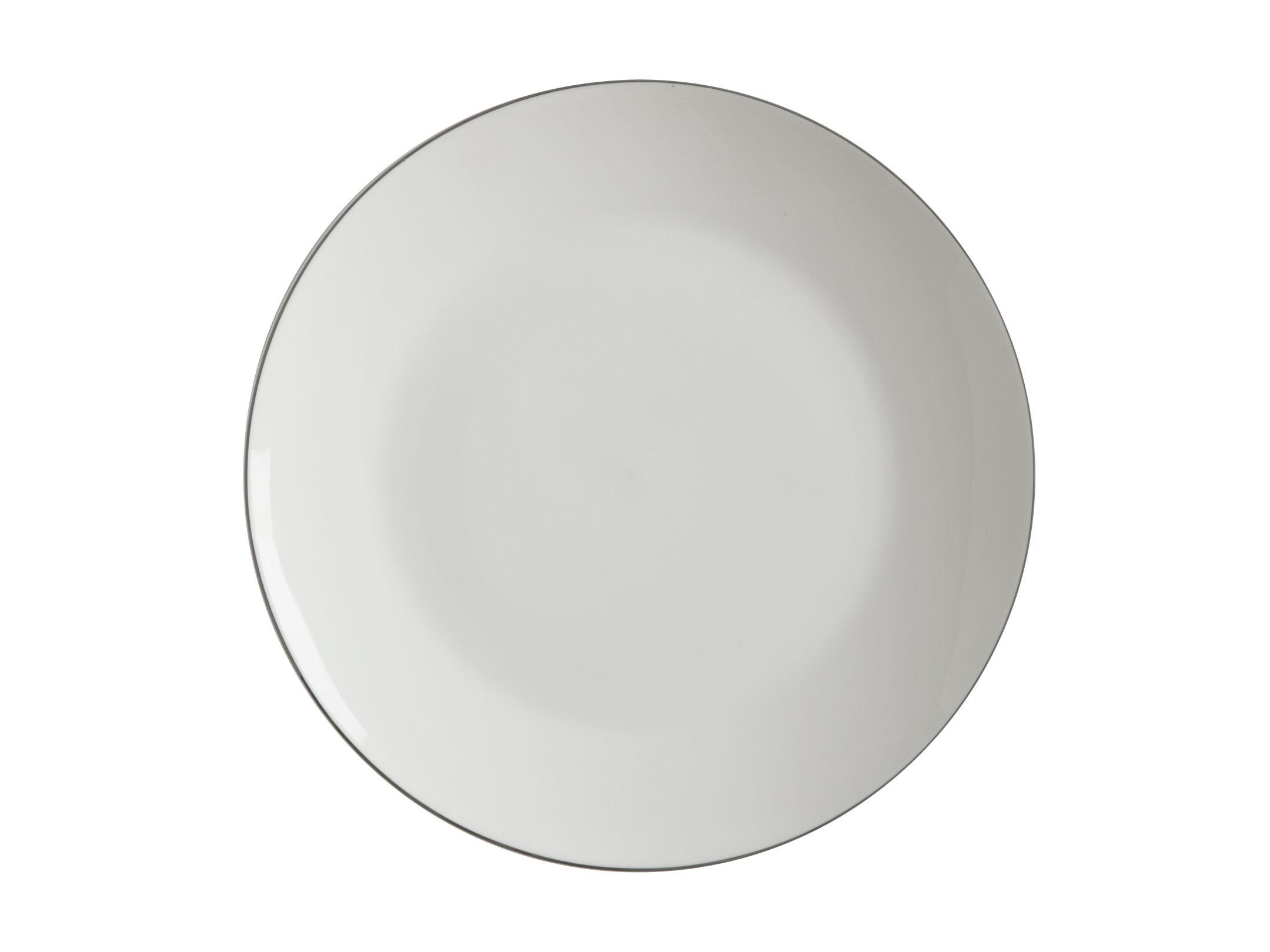 Porcelánový mělký talíř White Basics EDGE 23 cm - Maxwell&Williams