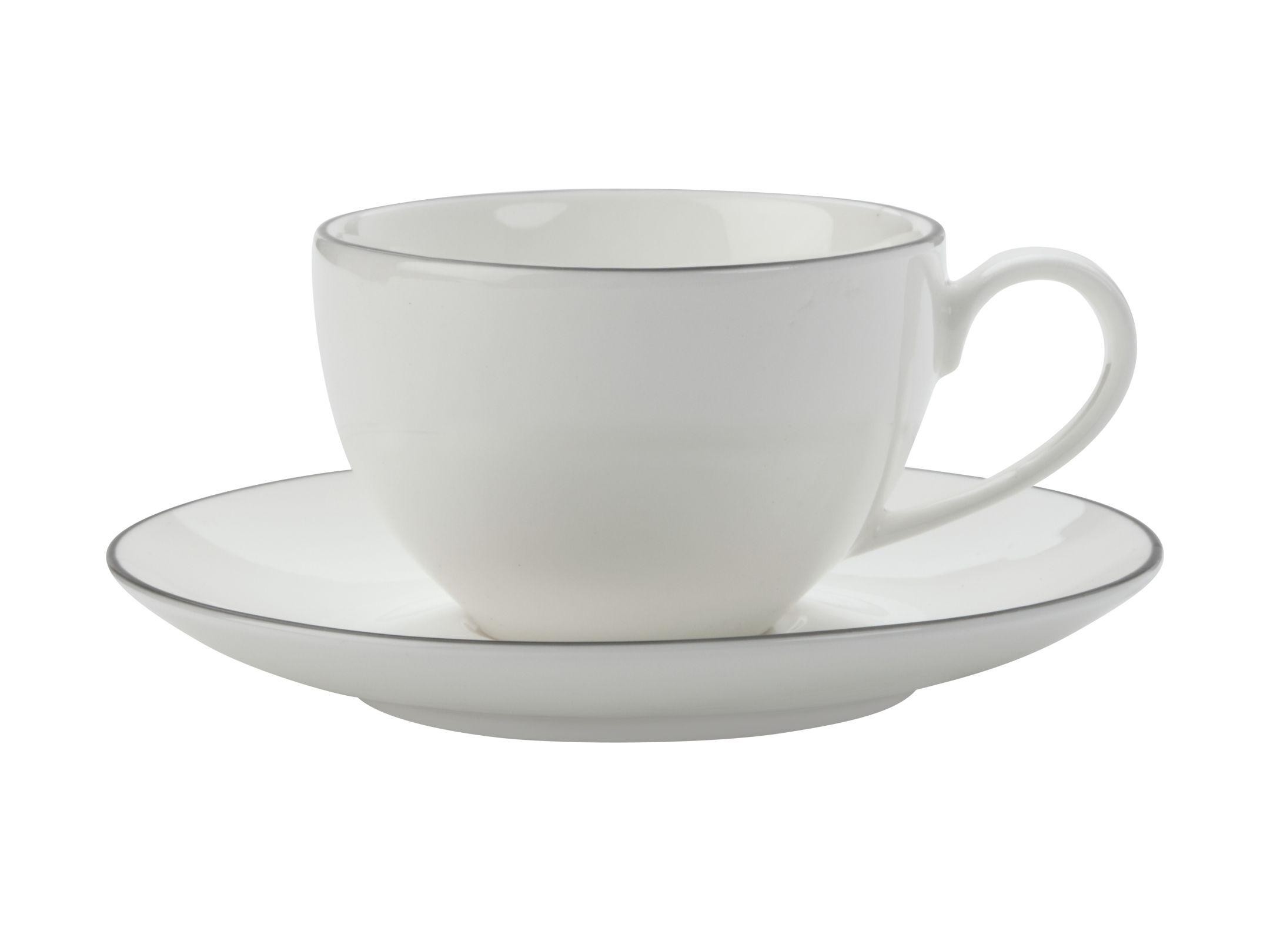 Šálek s podšálkem na espresso White Basics EDGE 100 ml - Maxwell&Williams