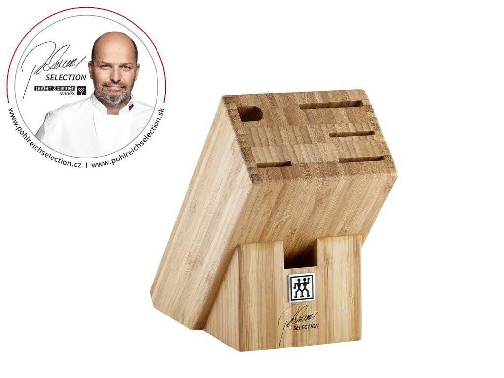 Bambusový blok na nože na 6ks - Pohlreich Selection-ZWILLING J.A. HENCKELS