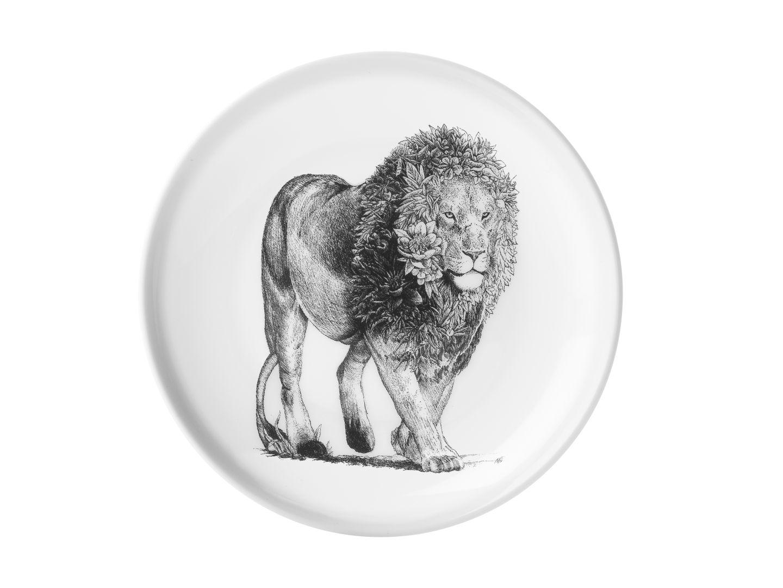 Porcelánový Talíř Marini Ferlazzo africký lev 20 cm - Maxwell&Williams
