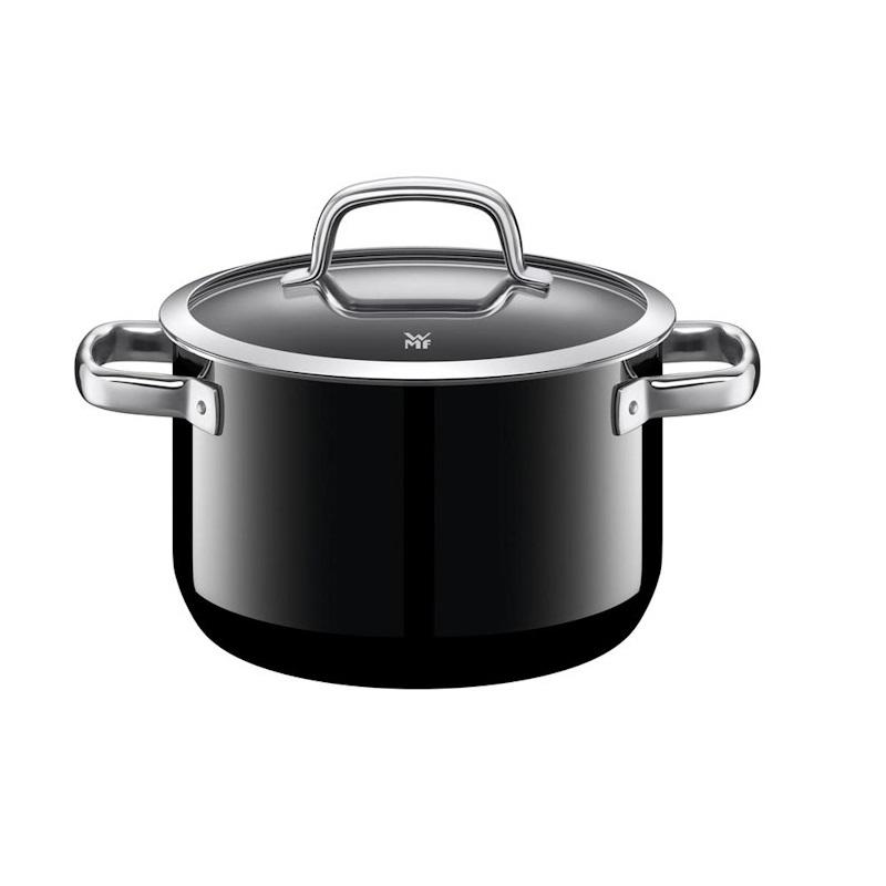 Hrnec s poklicí 24 cm černý FUSIONTEC MINERAL - WMF