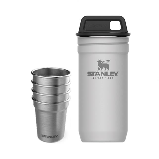 Sada nerezových panáků s pouzdrem, polární bílá Adventure series - Stanley