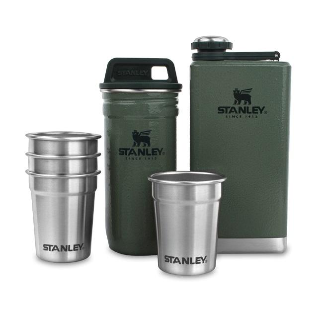 Dárková sada Adventure butylka a 4 panáky zelená - Stanley