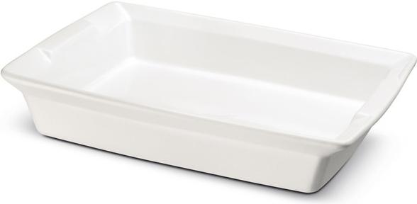 Ceramax obdelníková zapékací miska 25 x 18 x 5 cm, bílá - Carlo Giannini