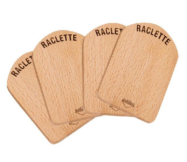 Raclette prkénko dřevěné set 4 ks - Küchenprofi