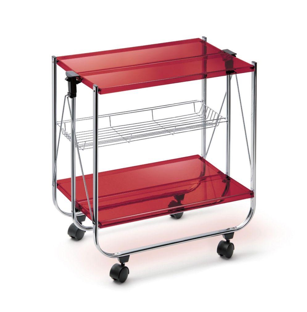 Servírovací stolek METACRILATO, červený - Carlo Giannini