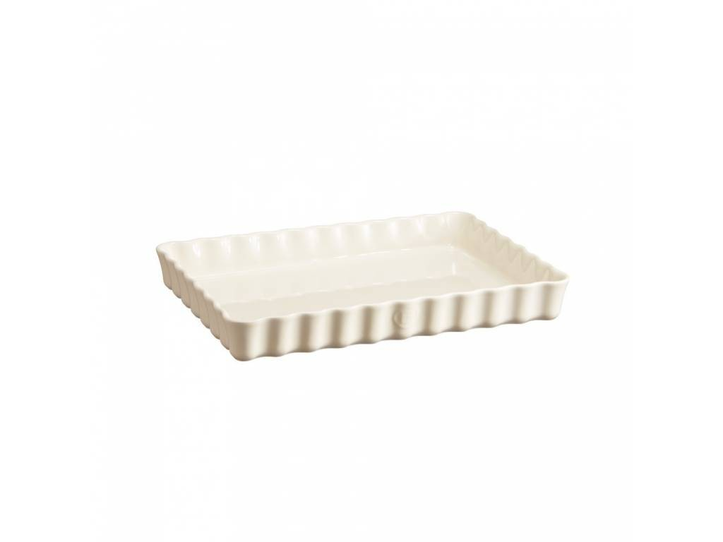 Keramická obdélníková koláčová forma 24 x 34 cm Clay krémová - Emile Henry