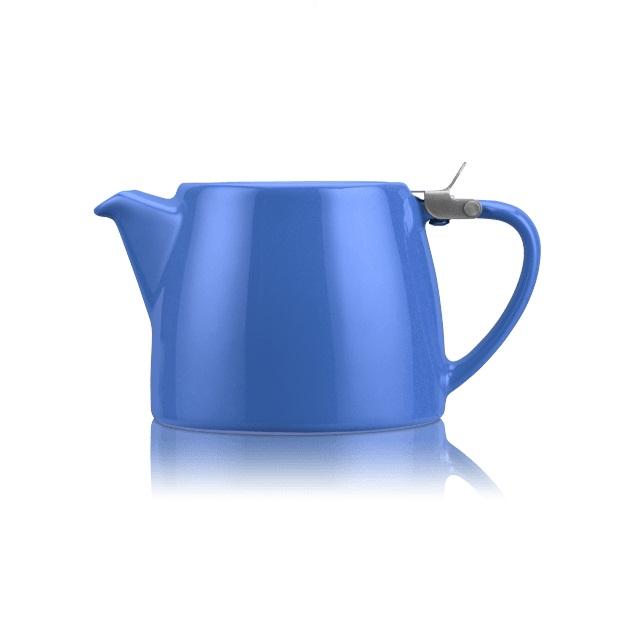 Porcelánová konvička na čaj Stump 0,55 l modrá - ForLife