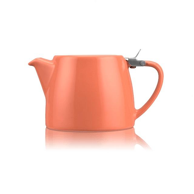 Porcelánová konvička na čaj Stump 0,55 l korálová - ForLife