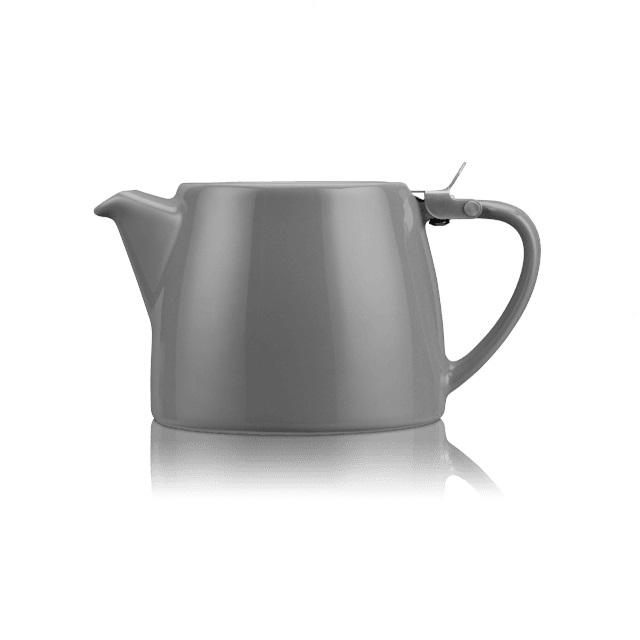 Porcelánová konvička na čaj Stump 0,55 l šedá - ForLife