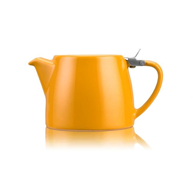 Porcelánová konvička na čaj Stump 0,55 l mandarinková - ForLife