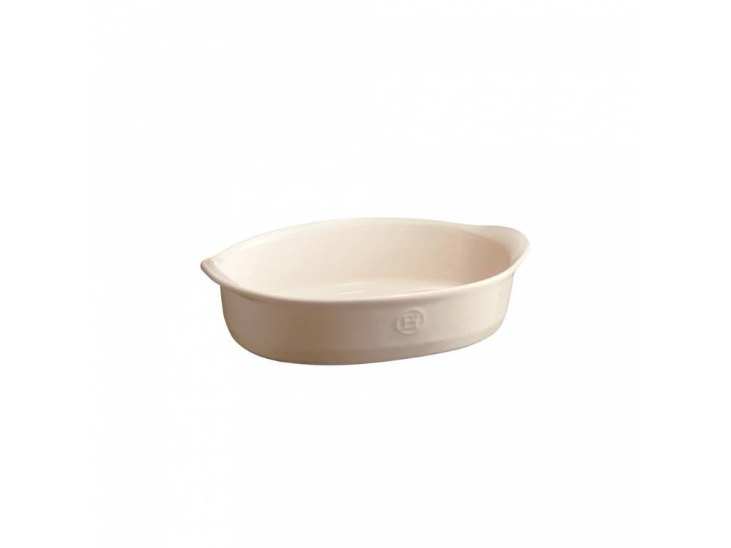 Oválná zapékací mísa ULTIME Clay krémová 27 x 17,5cm - Emile Henry
