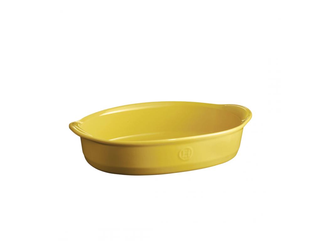 Oválná zapékací mísa ULTIME Provence žlutá 35 x 22,5cm - Emile Henry