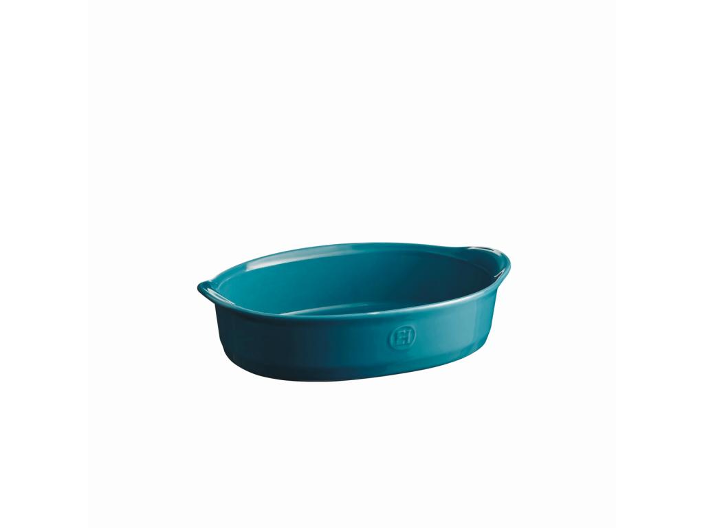 Oválná zapékací mísa ULTIME Calanque modrá 27 x 17,5cm - Emile Henry