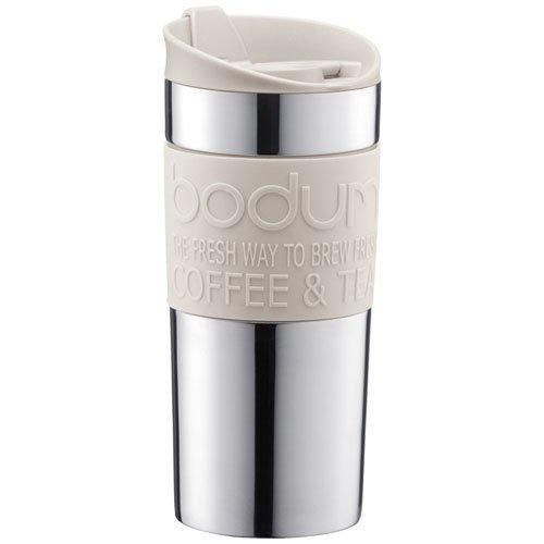 Cestovní hrnek TRAVEL MUG nerezový bílý 0,35 l - Bodum