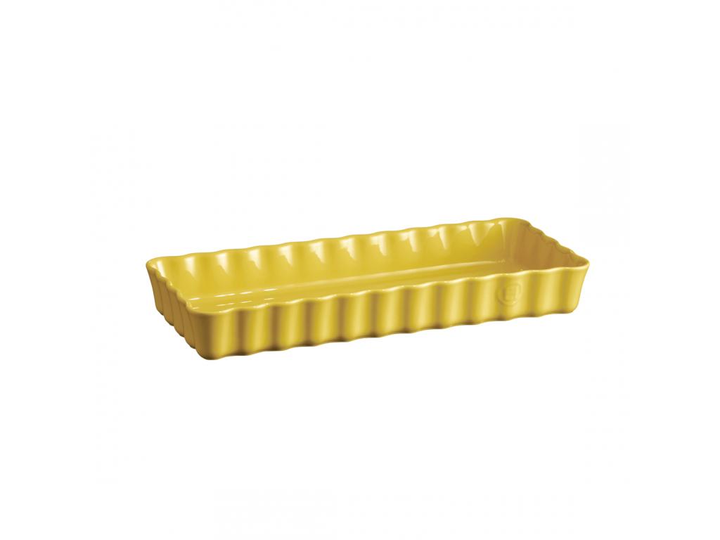 Keramická obdélníková koláčová forma 15 x 36 cm Provence žlutá - Emile Henry