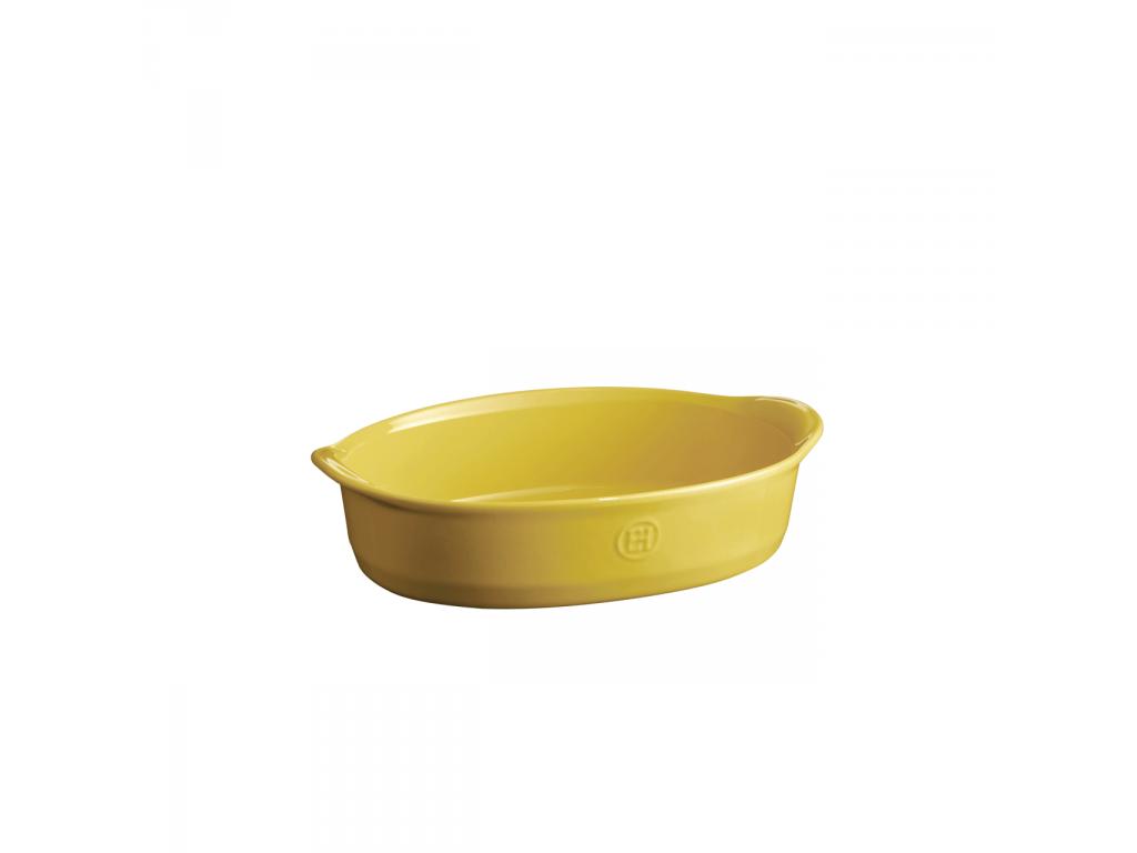 Oválná zapékací mísa ULTIME Provence žlutá 27 x 17,5cm - Emile Henry