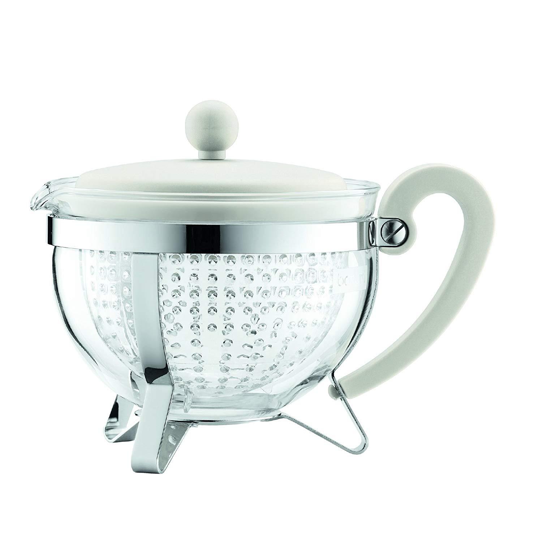 Konvice na čaj CHAMBORD 1,0 l bílá - Bodum