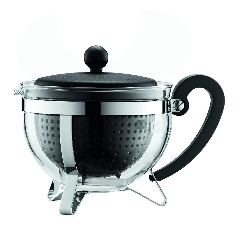 Konvice na čaj CHAMBORD 1,0 l černá s černým plastovým víkem - Bodum