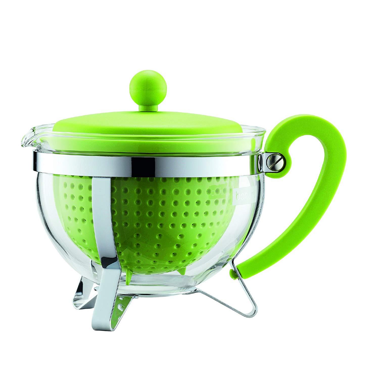 Konvice na čaj CHAMBORD 1,0 l zelená se zeleným plastovým víkem - Bodum