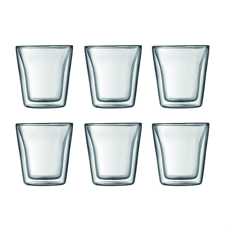 Set 6 ks Dvoustěnná sklenice CANTEEN 0,1 l - Bodum