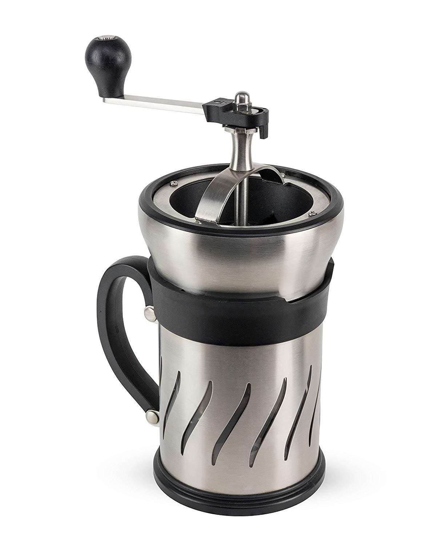 PARIS French press s mlýnkem na zrnkovou kávu 2v1 28 cm - Peugeot