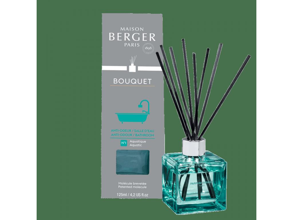 Aroma Difuzér CUBE proti zápachu z koupelny 125 ml Aquatic - Maison Berger Paris