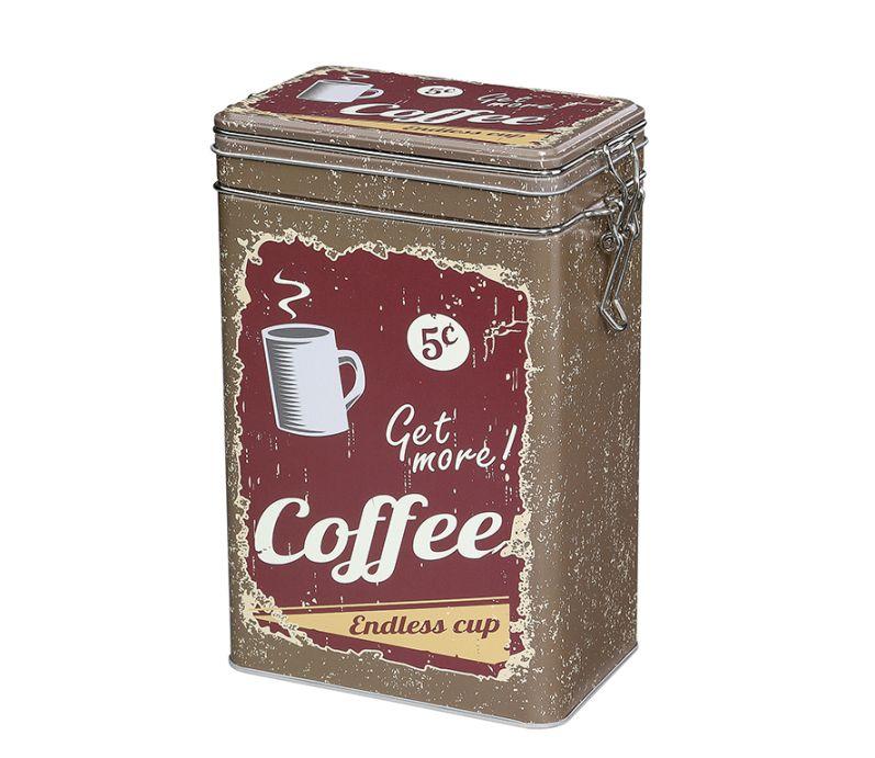 Retro dóza na kávu 500g, hnědá - Zassenhaus