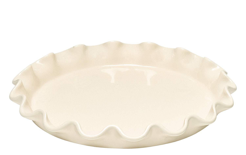 Koláčová forma nízká Clay krémová 33 cm - Emile Henry