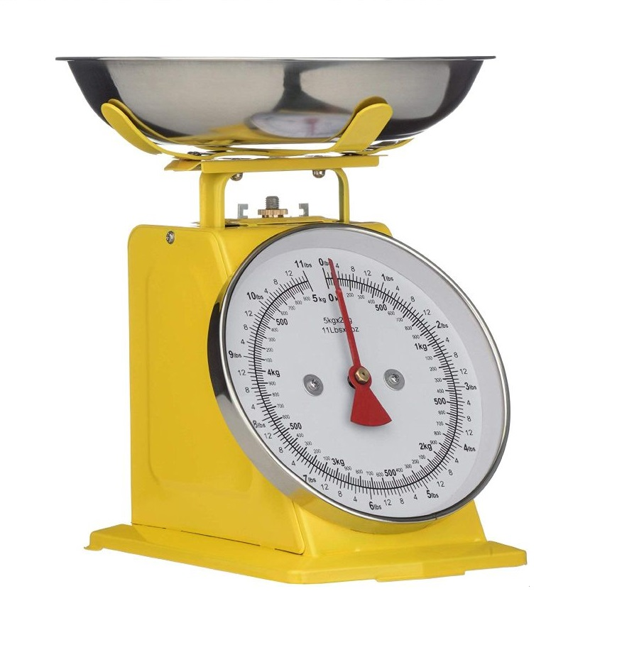 Kuchyňská Retro váha 5 kg žlutá - Premier