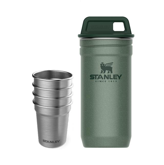 Sada nerezových panáků s pouzdrem, zelený Adventure series - Stanley