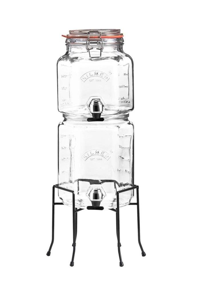 Skleněný nápojový automat s kohoutkem stohovatelný 2,5/3l - Kilner
