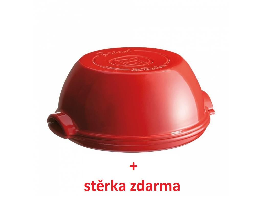 Forma na pečení domácího chleba Specialities červená + stěrka zdarma-Emile Henry