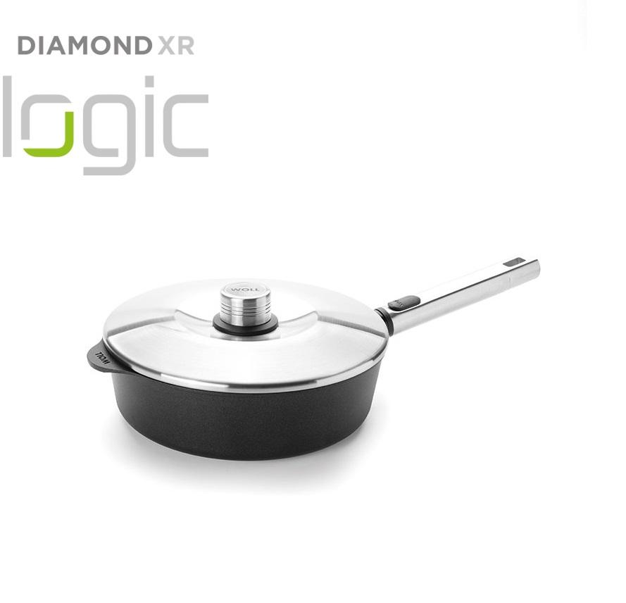 Pánev na soté Diamond PRO XR Logic s odnímatelnou rukojetí 24 cm - WOLL