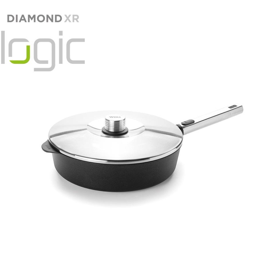 Pánev na soté Diamond PRO XR Logic s odnímatelnou rukojetí 28 cm - WOLL